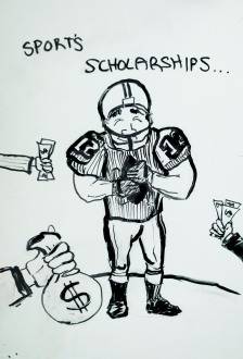football Cartoon Scholarship