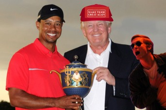 FRONT PAGE Trump Playing at the Masters (Idea)