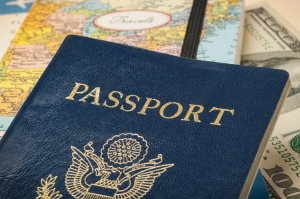 Passport with travel documents